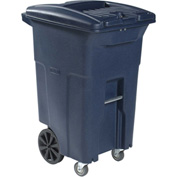 Toter 2-Wheel Secure Document/E-Waste Cart w/Casters, 64 Gallon Graystone - CDC64-00GST
