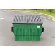 Toter 4 Yard Front Loading Dumpster, Dark Cool Gray - FL040-10082