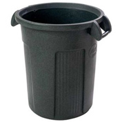 Toter Round Atlas Commercial-Grade Trash Container, 32 Gallon Dark Gray Granite - RBR32-01DGG