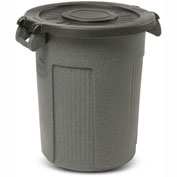 Toter Atlas Waste Container Lid for 55 Gallon Container, Black - RFL55-00BLK