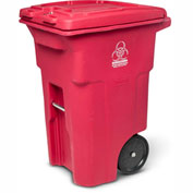 Toter 2-Wheel Medical Waste Cart, 64 Gallon Red - RMN64-00RED