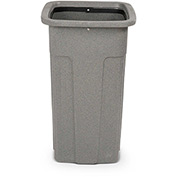 Toter Slimline Square Container, 25 Gallon, Greystone - SSC25-00GST
