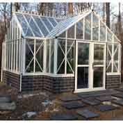 "Royal Antique Orangerie, Aluminum Frame & Tempered Glass, 185Sq/Ft, 15'L X 10'2""W X 9'H, White"