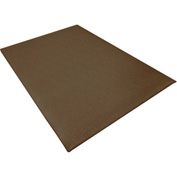 "Transforming Technologies ESD 3/8"" Thick Anti-Fatigue Floor Mat 4' x 60' Full Roll, Brown-FM248720BN"
