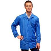 Transforming Technologies ESD 3/4 Length Jacket, Snap Cuff, Light Blue, X-Small