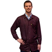 Transforming Technologies ESD 3/4 Length Jacket, Snap Cuff, Maroon, X-Small