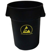 Transforming Technologies 44 Gallon Anti-Static Waste Basket, Black - WBAS180