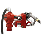 "Fill-Rite FR1210G, DC Fuel Transfer Pump w/20"" Steel Telescoping Suction Pipe, 15 GPM, 2"" Bung Mount"