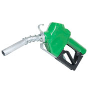 "Fill-Rite N075DAU10, 3/4"" Auto Nozzle with Hook, Diesel, Green, 2.5-14.5 GPM, End of Delivery Hose"