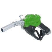 "Fill-Rite N100DAU12G, 1"" Automatic Nozzle with Hook, Green Body, 5-25 GPM, End of Delivery Hose"