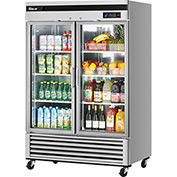 Turbo Air MSR-49G-2 - New Maximum Series, Glass Door Refrigerator, 2 Door