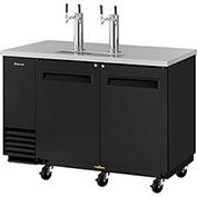 2 Keg Capacity Beer Dispenser Black by Beer Dispensers