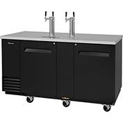 3 Keg Capacity Beer Dispenser - Black