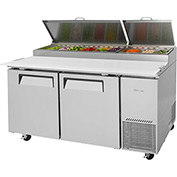 Turbo Air TPR-67SD Super Deluxe Series - Pizza Prep. Table - 2 Door