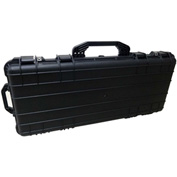 "TZ Case Cape Buffalo Water-Resistant Wheeled Shotgun Case 38""L x 16-3/4""W x 5-1/2""H, Black"