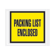 "Yellow Packing List Enclosed - Full Face 4-1/2"" x 5-1/2"" - 1000 Pack"