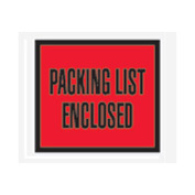 "Red Packing List Enclosed - Full Face 4-1/2"" x 5-1/2"" - 1000 Pack"