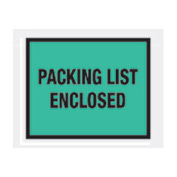 "Green Packing List Enclosed - Full Face 7"" x 5-1/2"" - 1000 Pack"