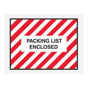 "Red Striped Packing List Enclosed - Full Face 4-1/2"" x 6"" - 1000 Pack"