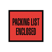"Red Packing List Enclosed - Full Face & Open End 4-1/2"" x 6"" - 1000 Pack"