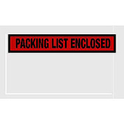 "Red Packing List Enclosed - Panel Face 5-1/2"" x 10"" - 1000 Pack"