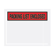 "Red Packing List Enclosed - Panel Face 4-1/2"" x 5-1/2"" - 1000 Pack"