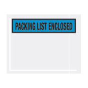 """Blue Packing List Enclosed - Panel Face 4-1/2"""" x 5-1/2"""" - 1000 Pack"""