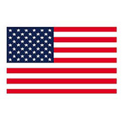 "USA Flag - Full Face 5-1/4"" x 8"" - 1000 Pack"