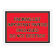 "Red Packing List Enclosed - Full Face, Important Papers Enclosed 4-1/2"" x 6"" - 1000 Pack"