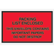 "Red Packing List Enclosed - Full Face 7"" x 6"" - 1000 Pack"