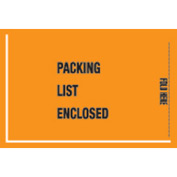 "Orange Packing List Enclosed- Full Face Mil-Spec 5-1/4"" x 8"" - 1000 Pack"