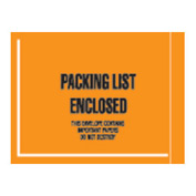 "Orange Packing List Enclosed - Full Face Mil-Spec 4-1/2"" x 6"" - 1000 Pack"
