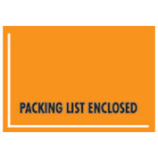 "Orange Packing List Enclosed - Full Face Mil-Spec, Wide Open Space 4-1/2"" x 6"" - 1000 Pack"