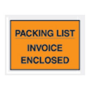 "Orange Packing List/Invoice Enclosed - Full Face 4-1/2"" x 5-1/2"" - 1000 Pack"