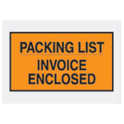 "Orange Packing List/ Enclosed Invoice - Full Face 7"" x 10"" - 1000 Pack"