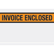 "Orange Invoice Enclosed - Panel Face 5-1/2"" x 10"" - 1000 Pack"