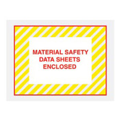 "Yellow Stripes Material Safety Data Sheet Enclosed - Full Face 4-1/2"" x 6""- 1000 Pack"