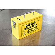 Accuform KCC612 Portable Group Lockout Box, Yellow