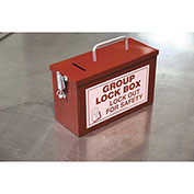Accuform KCC615 Portable Group Lockout Box, Red