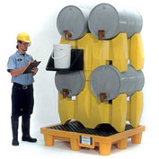 UltraTech Ultra-Drum Rack 4-Drum Containment System® 2381 with Drain