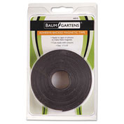 Baumgartens® Adhesive-Backed Magnetic Tape Roll, Black, 10-ft