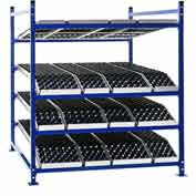"""UNEX FC99SKW60964-A Flow Cell Presentation Gravity Rack Add-On, 60""""W x 96""""D x 72""""H"""