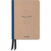 AT-A-GLANCE® Metropolitan Weekly/Monthly Planner, 5 1/2 x 8 1/4, Tan/Navy, 2017 - YP10607