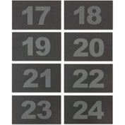 United Visual Numbers for ABS/Wood Cellphone Lockers TAB1724 - Numbers 17-24