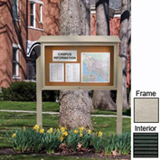 """United Visual 45""""W x 30""""H Letter Board Top-Hinged Single Door Message Center w/Light Gray Frame"""