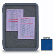 "United Visual Products 18""W x 24""H Image Enclosed Cobalt Accent Fabricboard with Gray Frame"