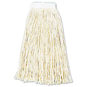 16 Oz. Premium Standard Cut-End Cotton Wet Mop Head, White 12/Pack - UNS216CCT