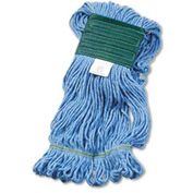 Med ium Super Loop Cotton/Synthetic Mop Head, Blue 12/Pack - UNS502BLCT