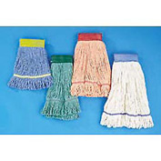 Med ium Super Loop Cotton/Synthetic Mop Head, Orange 12/Pack - UNS502OR