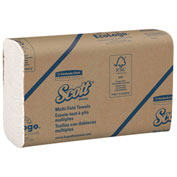 Scott® Multi-Fold Paper Towels, 9-2/5 x 9-1/5, White, 250 Sheets/Pack - 03650